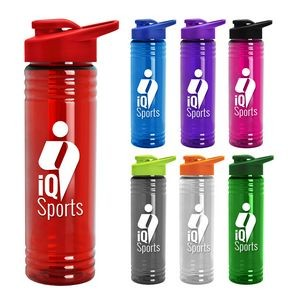 24 oz. Slim Fit Water Sports Bottle -Drink-Thru Lid