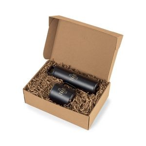 MiiR® Wide Mouth Bottle & Camp Cup Gift Set - Black Powder